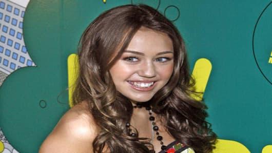 Hannah Montana star Miley Cyrus.