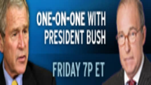 One-on-One with President Bush.  Friday 7p ET
