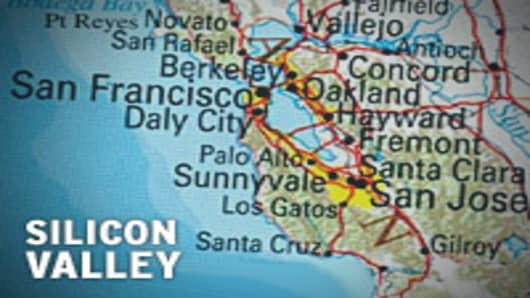 Map of Silicon Valley