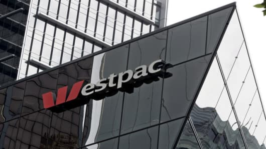 A branch of the Westpac Bank in Sydney, Thursday, Nov. 2, 2006. Westpac Banking Corp., Australia's fourth-biggest bank reported a record net profit of $3.071 billion (US$2,333.96 billion) for the 2005/06 year, up 13.8 per cent. (AP Photo/Mark Baker)
