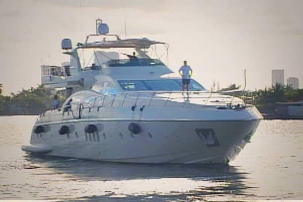 Durham keeps his 4-bedroom yacht (insert name) in Miami, Florida.   The 100-foot yacht sells for between $6 and $7 million. Durham spends $5,000 a month just for docking fees.  He stays on the boat about four times a year.