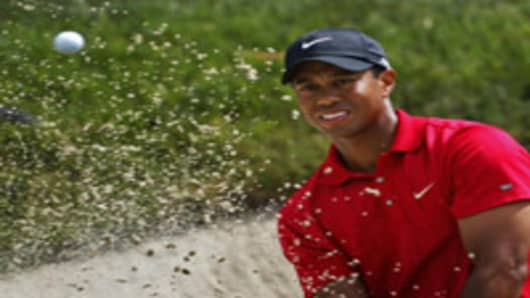 Tiger Woods playing at U.S. Open