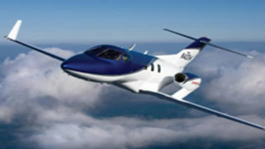 Honda Motor HondaJet compact business jet in flight