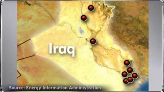 Iraqi Oil Field Map