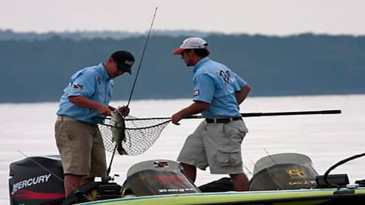 The tournament is on Lake Maumelle in Little Rock, Ark.