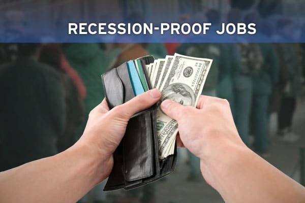 Despite a slowing economy and layoffs in many idustries, certain professions remain in high demand and are expected to weather a recession  better than others.  Take a look at these  ten  recession-proof jobs, according to job site jobfox.com.