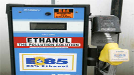 E85 Ethanol gas pump, Ohio Department of Agriculture, Columbus, Ohio.