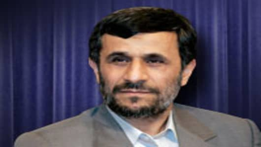 Mahmoud Ahmadinejad, president of Iran