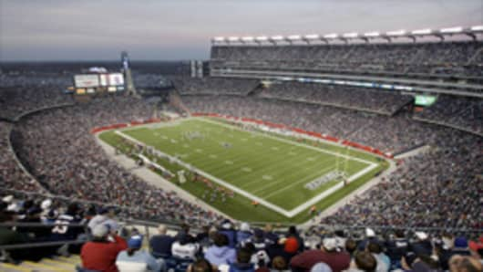 New England Patriots' stadium