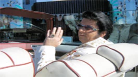 Elvis impersonater in Las Vegas