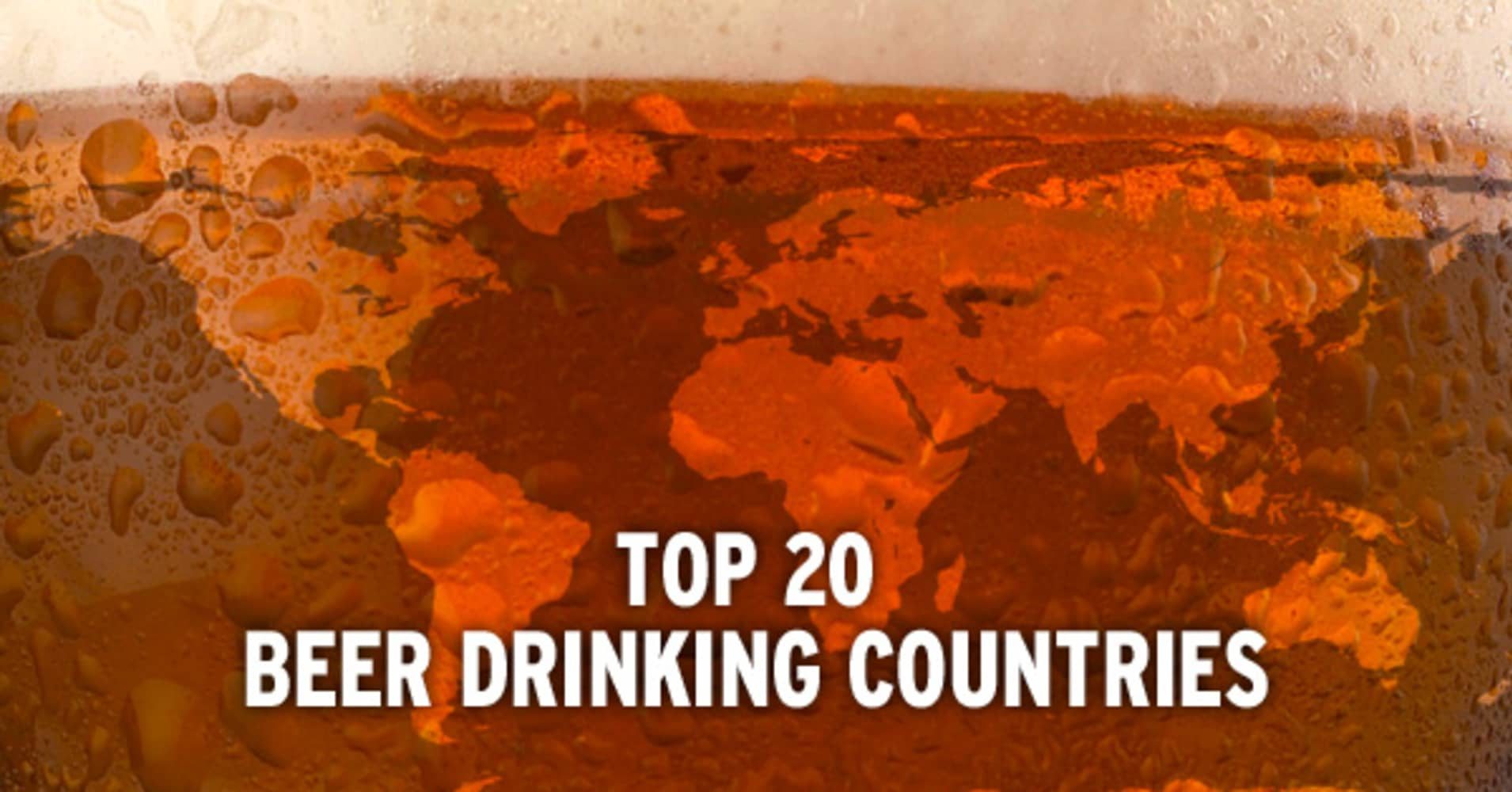 top 20 beer drinking countries