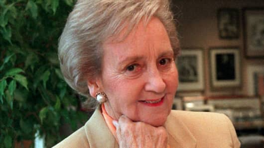 Washington Post Company Executive Committee Chairman Katharine Graham in a 1997 file photo.