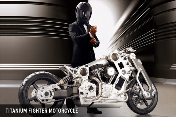 : $110,000Straight out of a sci-fi movie, this titanium and aluminum framed motorcycle can reach 190 mph. Conferate Motor Company, an American motorcycle manufacturer, has made only 45 of these bikes.