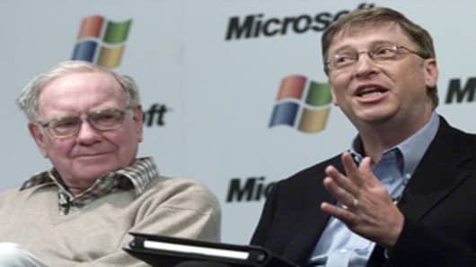 Warren Buffett and Bill Gates in a 2003 file photo
