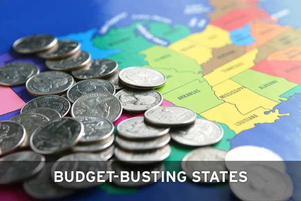 As the financial crisis unfolds and the economy weakens, many states are having a hard time paying their expenses. In all, about 35 states have reported a budget gap for the 2009 fiscal year. Put together, it amounts to some $56.4 billion, according to estimates compiled by the research organization Center on Budget and Policy Priorities. Click ahead to the ten states with the biggest budget holes, as a  percentage of the annual budget. The total dollar amount of the gap is based on the states'