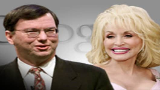 Eric Schmidt and Dolly Parton