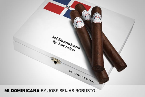 5 inches by 54 ring, Dominican Republic, $8.00The first Dominican puro from Tabacalera de Garcia Ltd., one of the world's largest cigar factories. Mi Dominicana is rich, spicy and leathery.