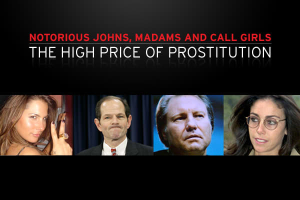posted 12 Nov 2008by  - Senior ProducerIn the big-money world of prostitution, sometimes the names that get caught up in scandals are a big surprise. They include political figures, billionaires, CEOs, all-star athletes and celebrities.  Here are some of the more notorious prostitution scandals that have made their way into the headlines over the years.
