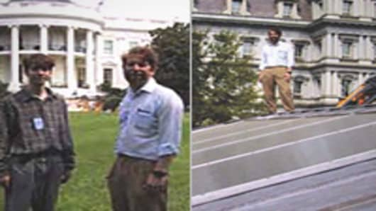 Steven Strong at the White House, where his firmed designed and engineered three solar energy systems.