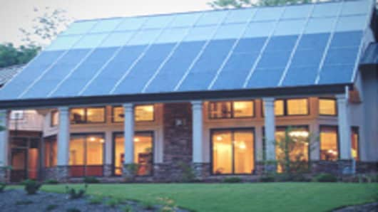 A solar-powered residence in Charlotte, N.C.