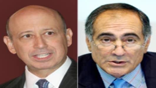 Goldman Sach's Lloyd Blankfein and Morgan Stanley's John Mack