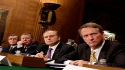 Ron Gettelfinger, Alan Mullaly, Robert Nardelli, and Rick Wagoner
