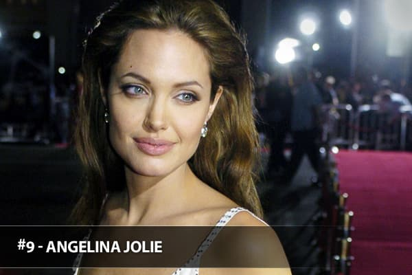 """Working on three big films in 2008 -- """"Wanted"""" ($134 million), """"The Changeling"""" ($35 million) and """"Kung Fu Panda"""" ($215 million) -- Jolie certainly demonstrated her versatility, securing the ninth spot on this year's list."""