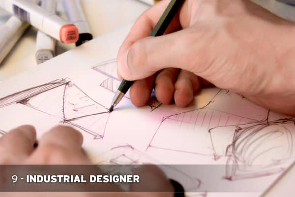 Industrial designers combine the fields of art, business and engineering to design the products people use every day. In fact, these designers are responsible for the style, function, quality   and safety of almost every manufactured good. Median salary: $54,560.