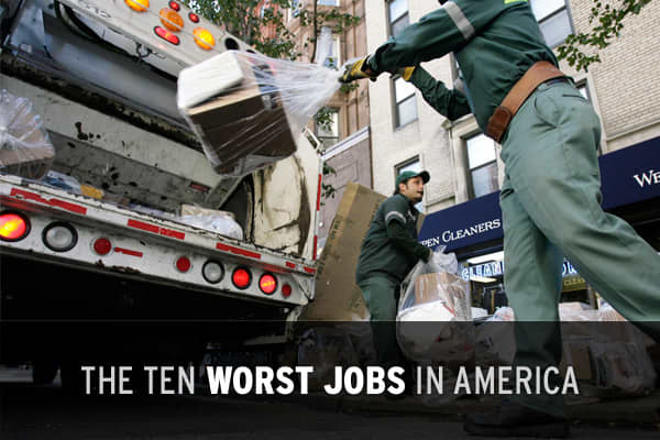 "If you think your job is bad, think twice... unless you've got one of the ""worst"" jobs in America today. It isn't much of a surprise that many of these low-rated jobs overlap with the . What's more, none have an annual salary above $40,000.  has released a comprehensive ranking of the worst occupations, based upon several key criteria, including salary, stress and physical demand. What are the ten worst jobs in the country? Click ahead to find out!"