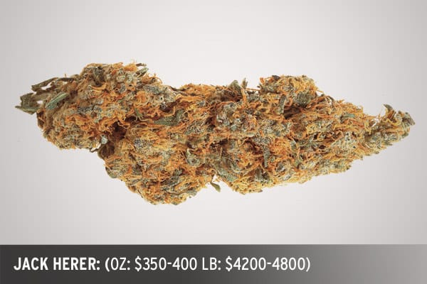 "Named for the infamous ""Hemperor"", this strain is a hazy sweet throwback to the days of heady imports from Central and South America. A great daytime weed and an appetite stimulant. OZ: $350-400 LB: $4200-4800"