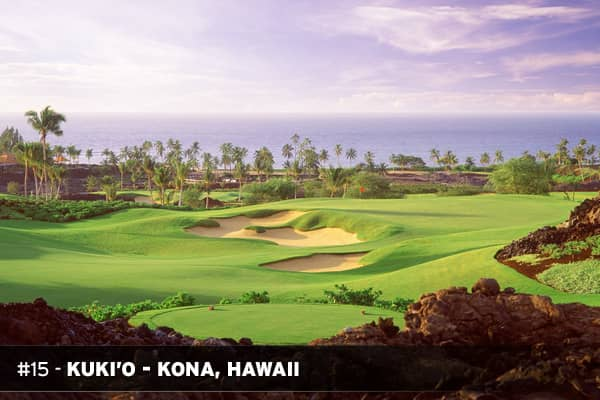Golf: 28 holes (Tom Fazio)Homes: From $5.5 millionHomesites: From $2.6 millionWebsite: kukio.comKuki'o is the first private equity Golf and Beach Club on Hawaii's Big Island. The Club includes a full service members' clubhouse, luxurious spa and fitness facilities, dining pavilion, beach bar, a ten-hole Tom Fazio-designed short course and Kuki'o's signature Outdoor Pursuits program. Upslope from the short course is Kuki'o's eighteen-hole Tom Fazio-designed championship golf course, featuring dra