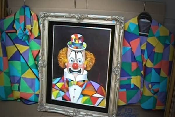 Parish had a quirky taste in collectibles, buying items like sixteen clown paintings by comedian Redd Skelton.
