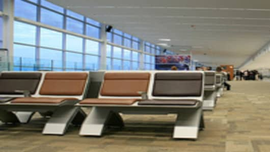 Empty Airline Terminal
