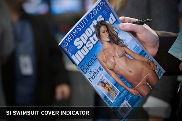 The Sports Illustrated Swimsuit issue is a hot topic when talking about economic indicators. First, there is an indicator based upon the nationality of that year's cover model. The indicator suggests that when the cover model is from the United States, the S&P will show a return for the year above it's historical rate. With a non-American cover model, the S&P 500 will underperform for the year.