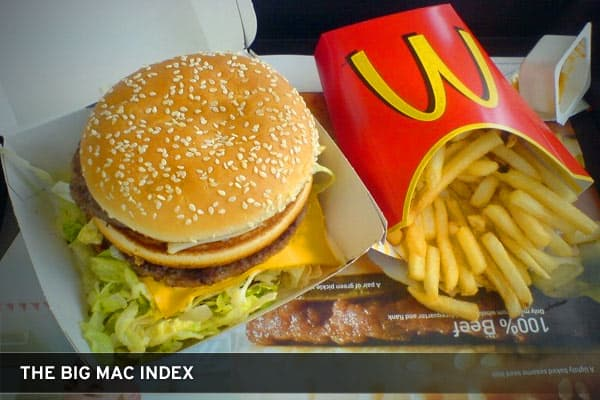 "Provided by The Economist, the Big Mac is dubbed ""the world's most accurate financial indicator based on a fast-food item."" The indicator is based on the theory of purchasing-power parity, which is the notion that one dollar should by the same amount of product in every country. The Economist suggests that in the long run, the exchange rate between two countries should reach equilibrium, and the ability to buy the same items in each country should remain in-synch.The Economist selected the Big M"