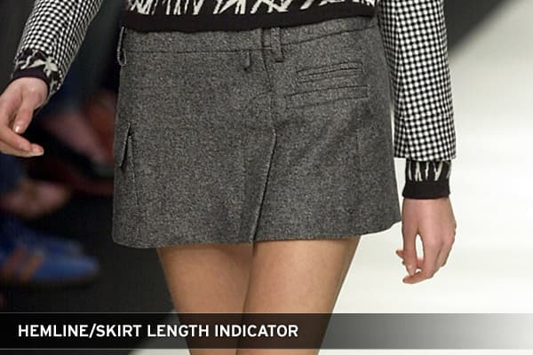 This theory suggests that one can predict the direction of the economy based upon the average length of hems in that year's new fashion lines. If skirts are short, the theory suggests that markets are on the rise. Conversely, if skirts are long the markets are heading downwards.The rationale behind this indicator is that longer skirts are worn when general consumer confidence is low, demonstrating fear and lacked spending. When skirts are short, consumer optimism and confidence is high, indicati