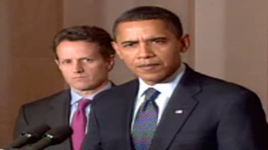 President Obama and Tim Geithner