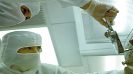 Technical Workers in Clean Room