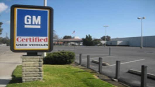 Empty GM Dealership