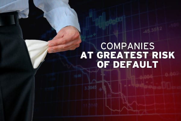"In an economy plagued by tight credit markets, it is sometimes difficult to determine which companies can cover their debts, and which ones are in serious trouble. In Moody's ""U.S. Bottom Rung"" report, the ratings agency lists the 283 speculative-grade, non-financial U.S. companies most at risk of default, up from 157 companies one year ago. Companies on the list have not defaulted, carry either a Probability of Default Rating of Caa1 or lower, a B3 with a negative rating outlook, or a B3 with a"