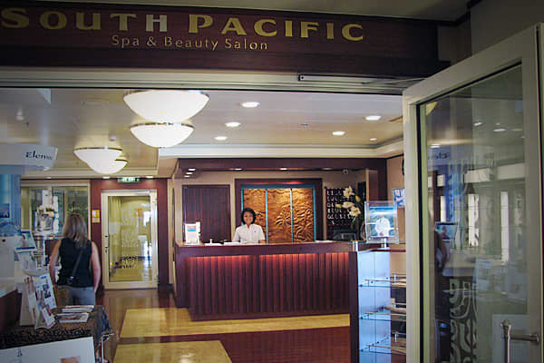 The South Pacific Spa offers everything from massages and manicures, to teeth brightening and Botox!