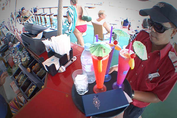 The second top moneymaker since the 1960s is the bar.  On our cruise, the bar needs every passenger to buy $7.25 worth of drinks per day just to hit their target.