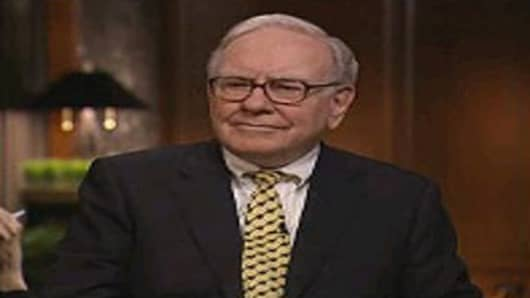 Warren Buffett in an interview with Bloomberg Television, taped March 5, 2009 in Omaha.