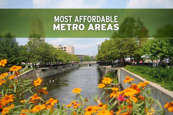 Looking to move to a more affordable area? Take a look at these 10 metro areas, ranked based on the percentage of affordable homes for a family making the median income in that neighborhood.