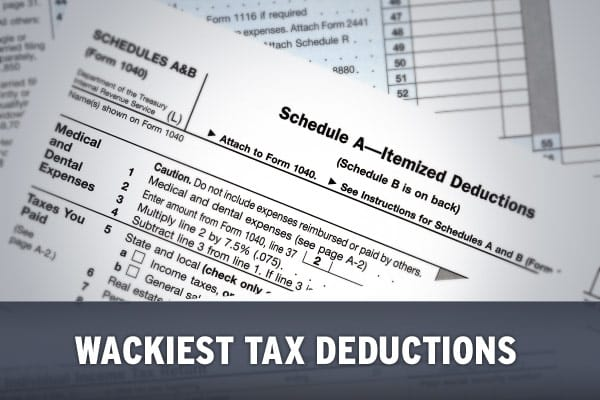 Nine Wackiest Tax Deductions