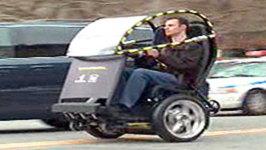GM/Segway two-wheeled experimental vehicle.