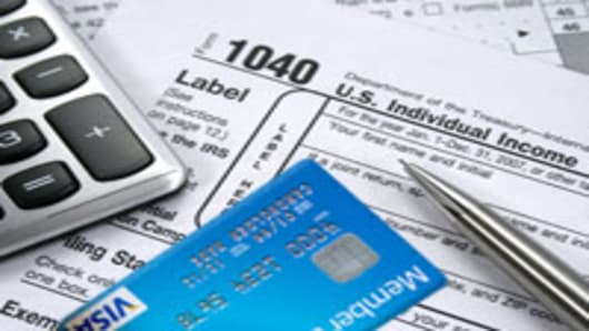 Paying the IRS with a credit card
