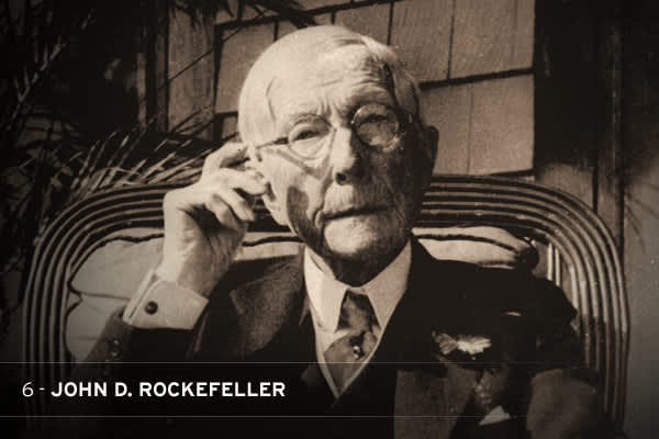 It's hard to top Rocke¬feller as a monopolist or philanthropist. While doling out dimes and nickels to the poor, John D. built a sprawling empire by squashing, undercutting, and buying up the competition. Over a two-month period in 1872, Standard Oil absorbed 22 of the 26 petroleum firms in Cleveland, where the company was first headquartered. By 1879, it had about 90 percent of the market for refining petroleum and all but complete control of the U.S. oil industry.  THE STAT: Rockefeller's fort