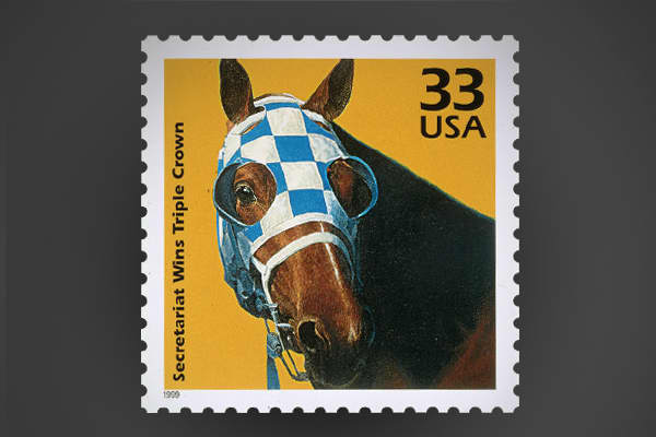 The chestnut colored colt, affectionately called Big Red, made history in 1973 when he became the first Triple Crown Winner in 25 years. Secretariat's track records at The Kentucky Derby and Belmont Stakes still stand today.
