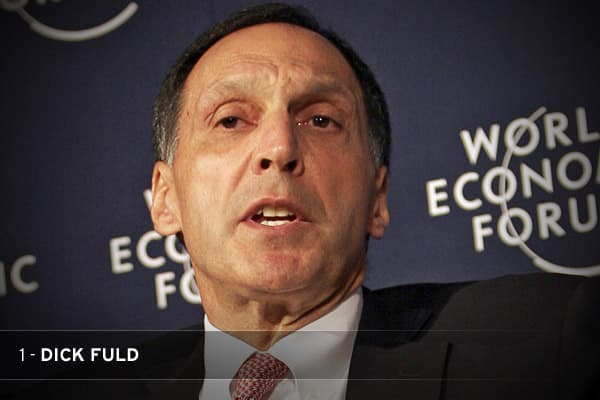 It's one thing to oversee the collapse of one of Wall Street's most esteemed firms. But when your hubris triggers a national financial panic as well, you're a shoo-in for top prize. Fuld's reckless risk-taking may have been typical of Wall Street, but his refusal to acknowledge that his firm was in trouble—and take the steps necessary to save it—was beyond the pale. Since filing the largest bankruptcy in U.S. history ($613 billion in debts outstanding), Fuld has been belligerent and unrepentant.
